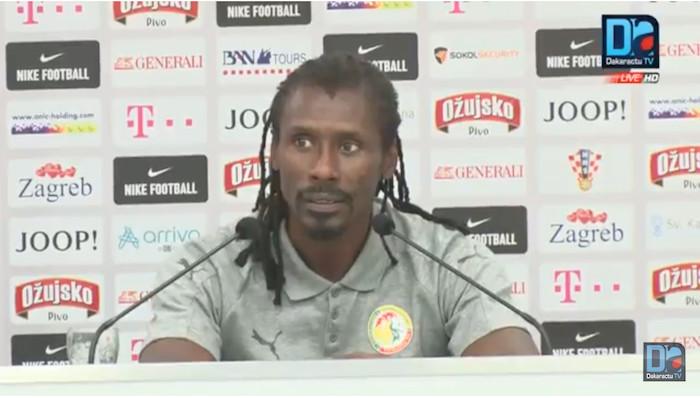 Aliou Cissé reste optimiste malgré la défaite de ce vendredi : « Le contenu est meilleur que celui contre le Luxembourg »