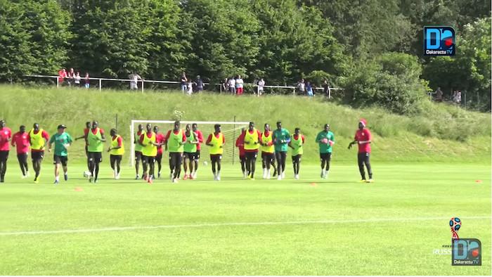 CM 2018 : première séance d'entraînement des Lions à Kaluga, ce jour