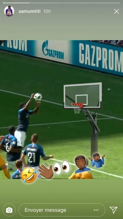 FRANCE : Umtiti joue la carte de l'autodérision après son penalty ridicule