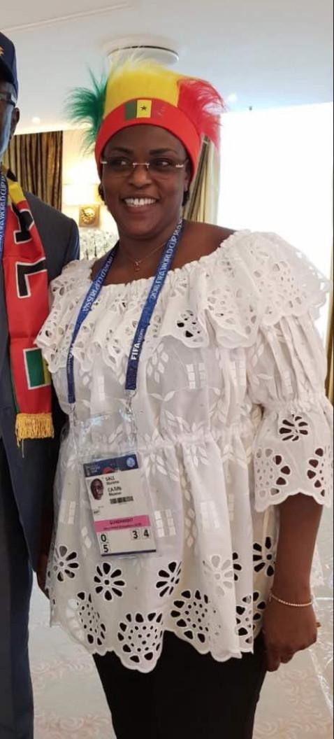 RUSSIE 2018 : La première Dame du Sénégal Marième Faye Sall soutient les Lions
