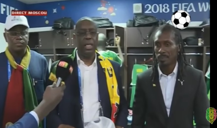 """Macky Sall après la victoire des Lions : """"C'est un sentiment indescriptible qui m'anime. On est manifestement l'une des meilleures équipes de cette coupe du monde"""""""