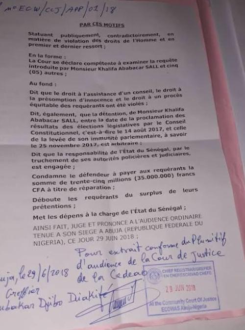 Affaire de la Caisse d'avance : La CEDEAO s'insurge contre la procédure