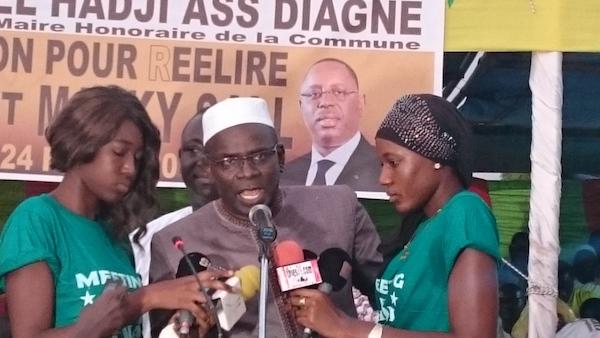 Ngaye Mékhé : Aymerou Gningue prêche pour la victoire du président Macky Sall avec un taux de plus de 60% au plan national