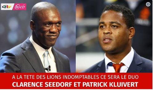 Le Cameroun annonce l'arrivée du tandem Seedorf-Kluivert sur le banc de la sélection !