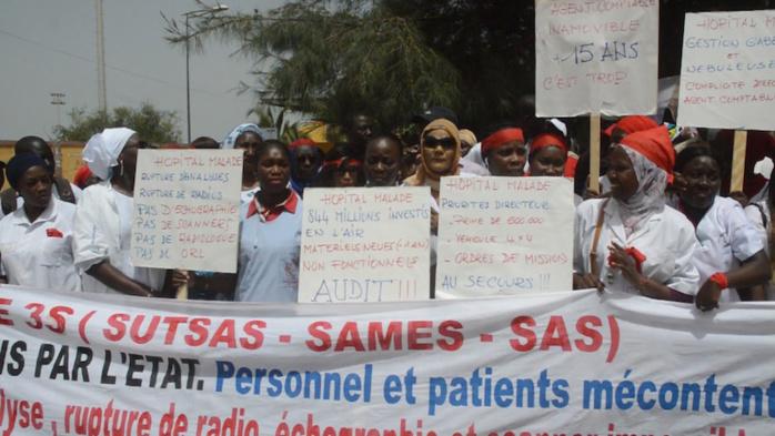 Marche des travailleurs de l'hôpital régional de Saint-Louis : Les syndicalistes exigent l'audit de la structure sanitaire