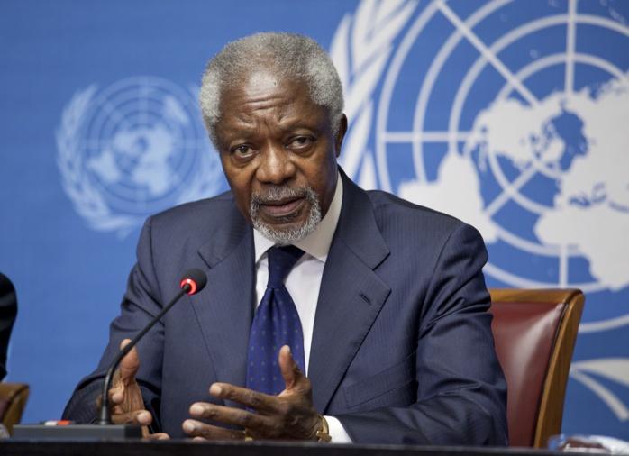 Décès de Kofi Annan, ancien secrétaire général des Nations unies.
