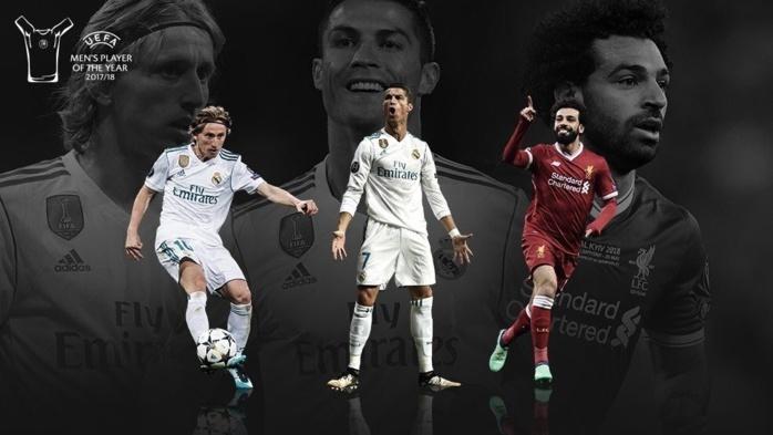 Luca Modric, Christiano Ronaldo et Salah nominés pour le titre de joueur UEFA de l'année 2018