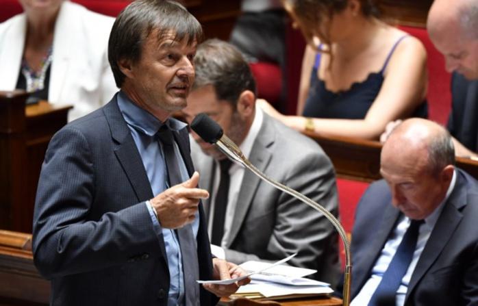 France :  Nicolas Hulot, ministre de la Transition écologique, annonce son départ du gouvernement