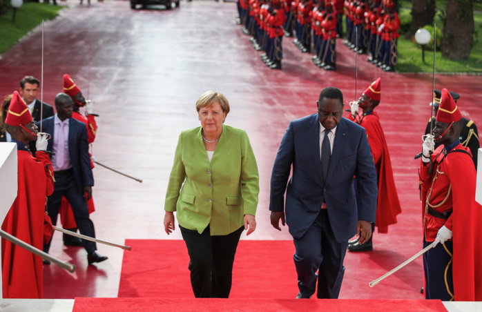 La Chancelière Angela Merkel au Palais en tête à tête avec le président Macky Sall (photos)