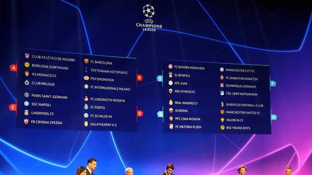 Le tirage complet de la phase de groupes de la Ligue des champions