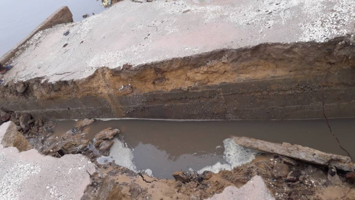Fortes pluies d'hier : Sokone coupé en deux