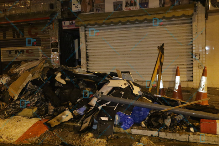 Incendie à Sandaga : Un magasin de tissus ravagé par le feu