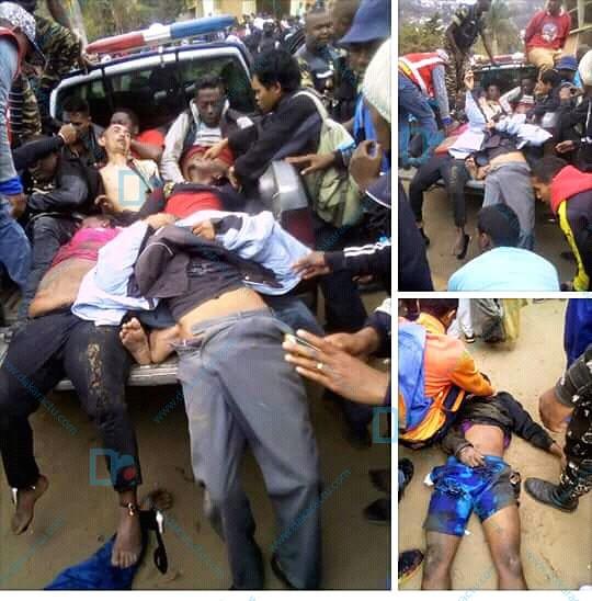 Madagascar/Sénégal : Le bilan des bousculades au stade de Mahamasina s'alourdit à 8 morts .  ( IMAGES )