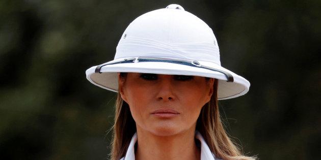 Le casque colonial de Melania Trump pendant sa visite au Kenya ne passe pas
