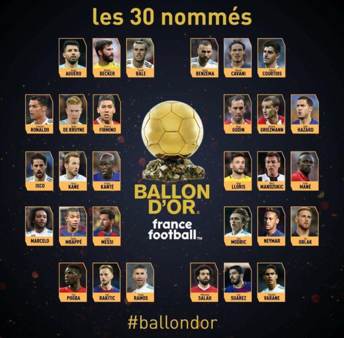 Ballon d'or : Sadio Mané dans les 30 nommés