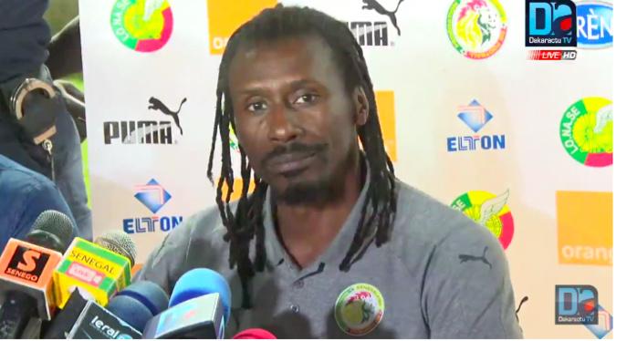"""Aliou Cissé, Sélectionneur national : """"J'espère que Sadio Mané marquera le but qu'on attend de lui"""""""