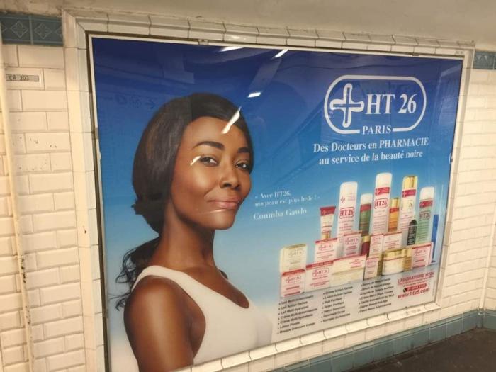 Paris : Coumba Gawlo s'affiche sur des panneaux publicitaires pour HT26