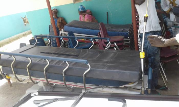 Keur Madiabel : Don de matériels sanitaires au poste de santé