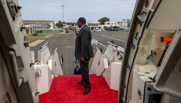 Le Président Macky Sall quitte Dakar pour Johannesburg