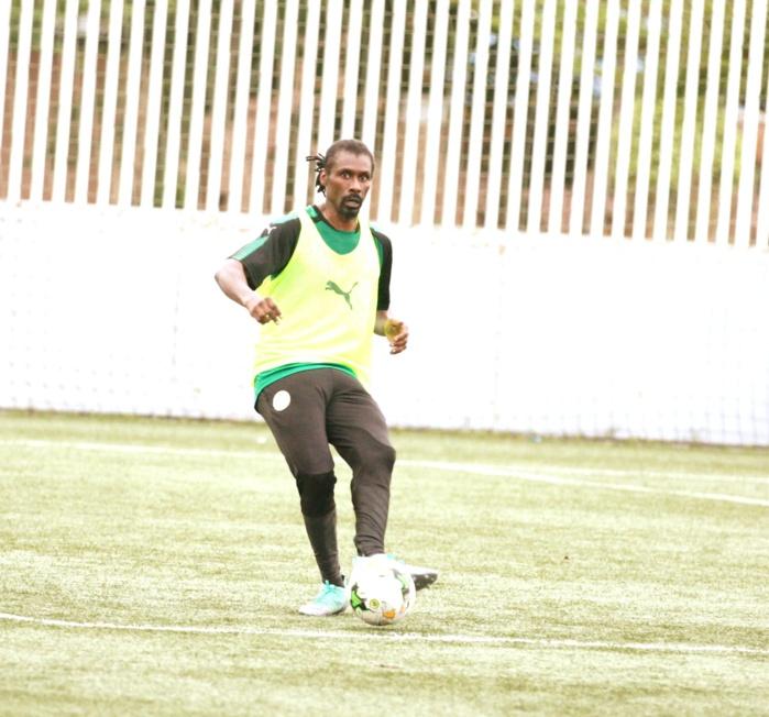 Malabo : Aliou Cissé participe à une opposition durant l'entraînement des Lions