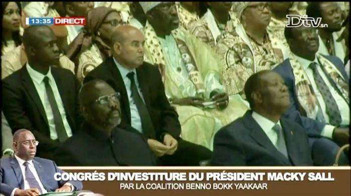 Alassane Ouattara, George Weah, Adama Barrow et Ould Abdoul Aziz au Congrès d'investiture de Macky Sall