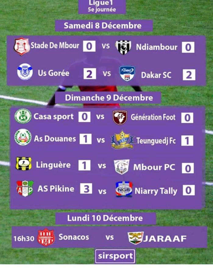 5e journée Ligue 1 Sénégalaise : AS Pikine corrige Niary Tally et prend la tête du classement