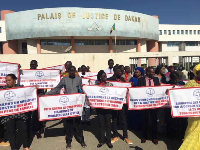 Sit-in au Palais de justice : Le Sytjust dénonce un rafistolage de la part du gouvernement