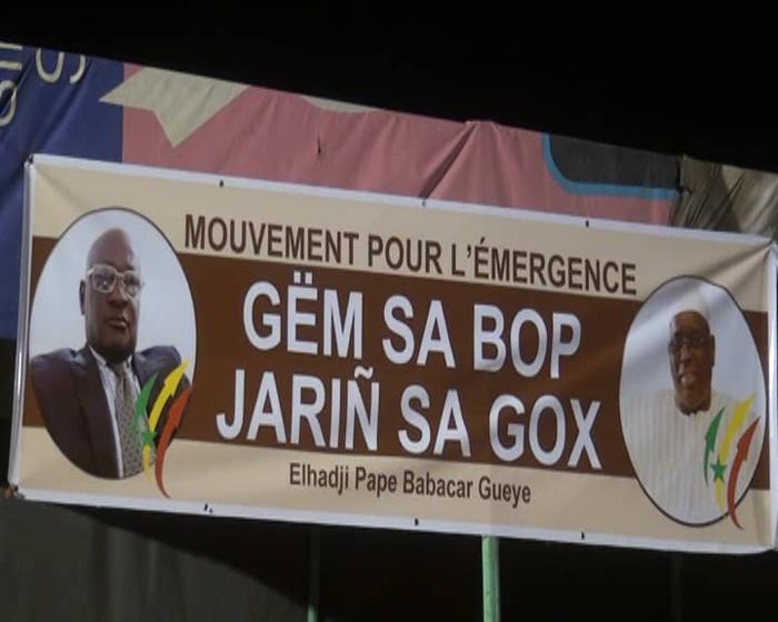 Kaolack-Soutien à Macky Sall : El Hadji Pape Babacar Gueye lance le  Mouvement pour l'émergence  Gem sa Bop Jarin sa Gox