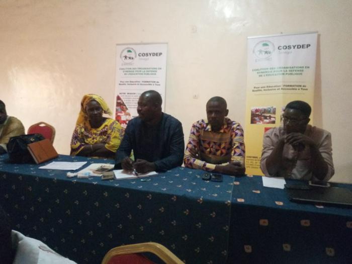 Education :  La COSYDEP souligne des défis à relever à Tambacounda, Kédougou et Kaffrine.