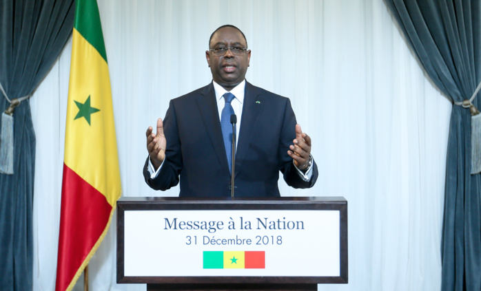 Message à la Nation de Son Excellence monsieur le président Macky Sall à l'occasion du nouvel an