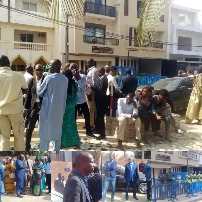 Conseil constitutionnel : Les mandataires patientent, les candidats de l'opposition en concertation, les gendarmes aux aguets...