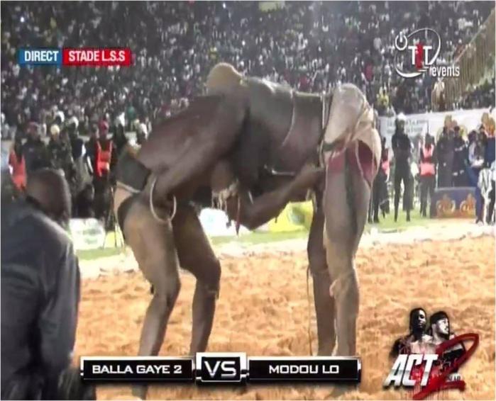 Balla Gaye 2 terrasse Modou Lo et remporte le trophée du Chef de l'Etat