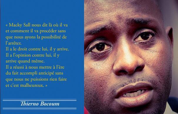 Le Président Macky Sall nous met à l'ère du fait accompli anticipé. (Par Thierno Bocoum)