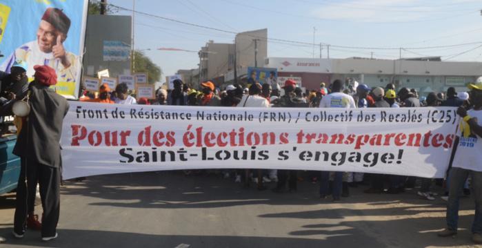 Marche de protestation / L'opposition saint-louisienne vilipende Macky Sall et avertit sur toute tentative de fraude électorale