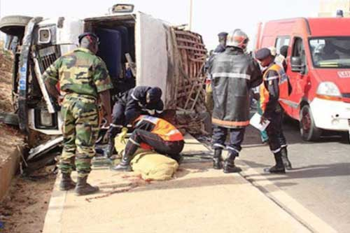 AUTOROUTE ILA TOUBA :Un grave accident fait 2 morts et 2 blessés graves