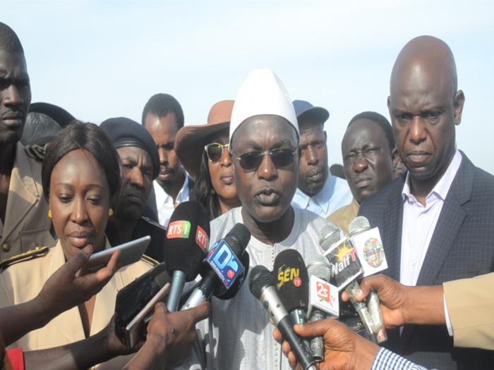 Brèche de Saint-Louis : « les travaux concernant le balisage de la brèche ont démarré » (Oumar Guèye, ministre de la pêche)