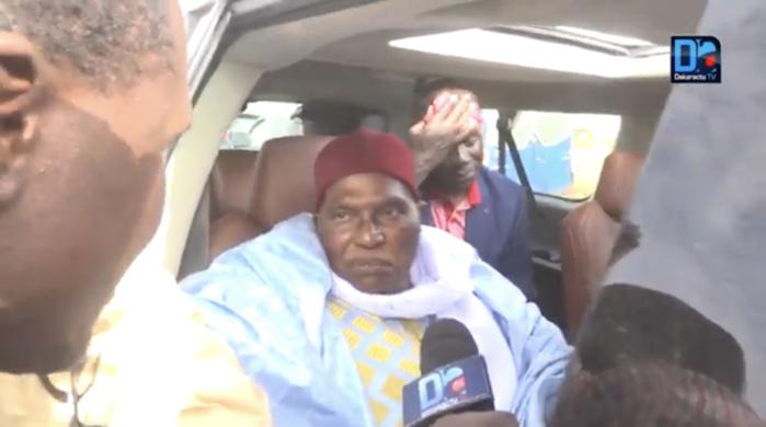 Visite dans les foyers religieux : Wade vient de quitter Dakar pour Touba
