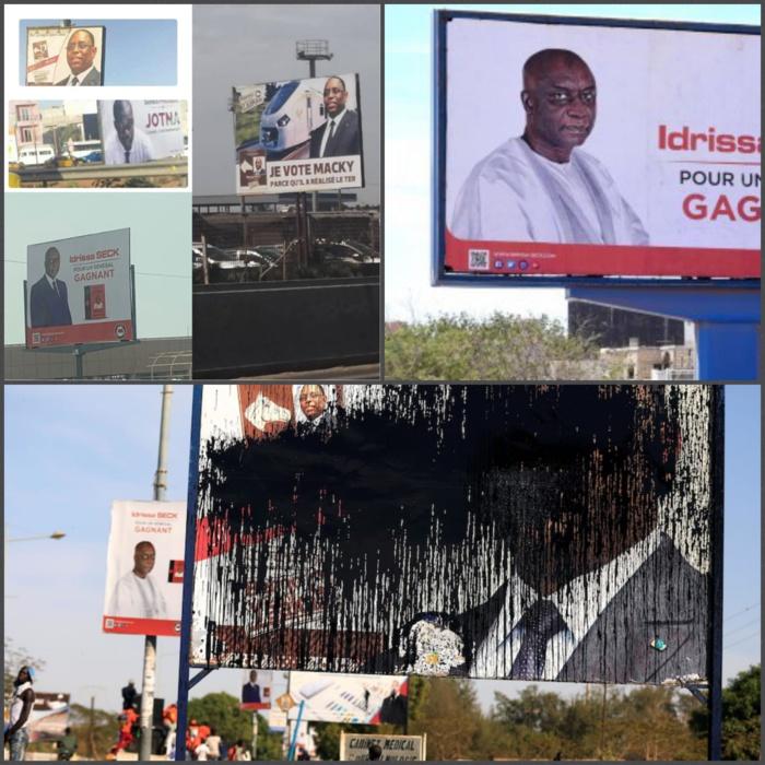 Incivilité - Sénégal - Affichages sauvages  de candidats : La campagne, c'est aussi sur les murs  du pays