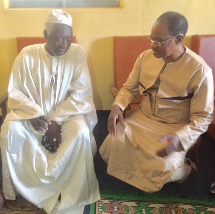 Kaffrine : Madické Niang chez le Khalife de la famille Bousso de Mbirkilane