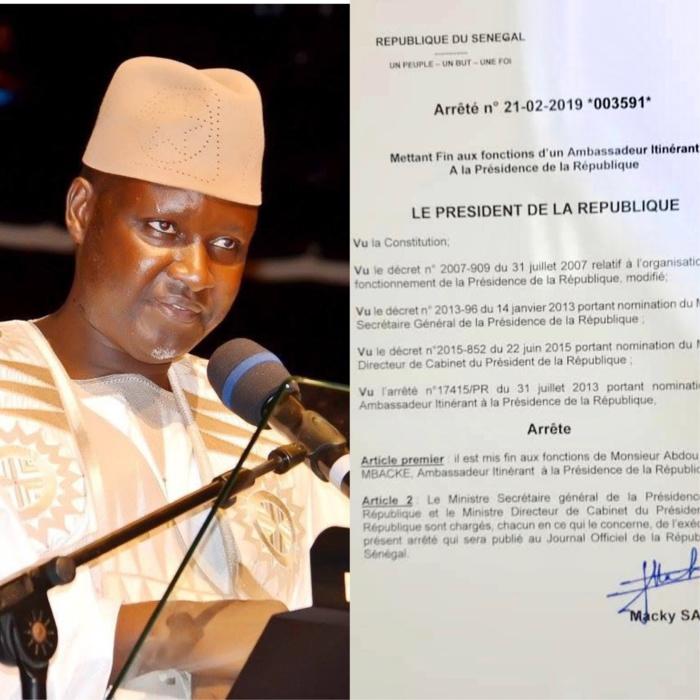 CONSÉQUENCE DE SON SOUTIEN À IDY / Serigne Abdou Samath Mbacké limogé de ses fonctions d'Ambassadeur itinérant par le Président Macky Sall