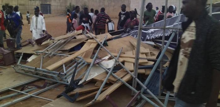 Stade municipal de Mbour : L'effondrement d'une tribune amovible fait quelques blessés, dont des touristes français