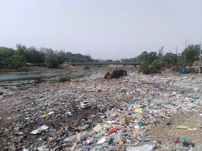 KOLDA : Le fleuve Casamance devenu un véritable dépotoir d'ordures.