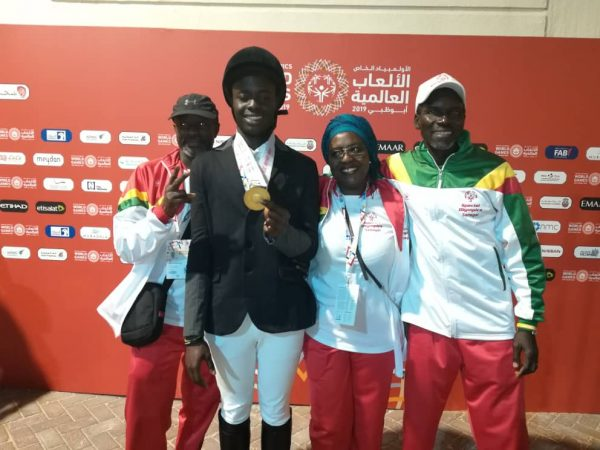 JO Spéciaux Olympics Abu Dhabi / Alcaly Diouf premier médaillé d'or en équitation