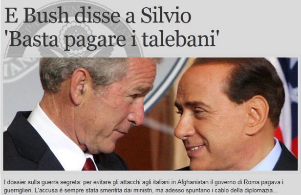 Afghanistan: Rome accusé d'avoir payé les Talibans pour protéger ses troupes, selon Wikileaks