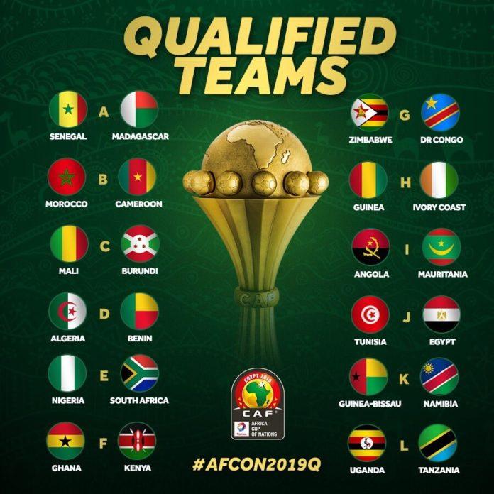 CAN 2019 : Voici les 24 équipes qualifiées