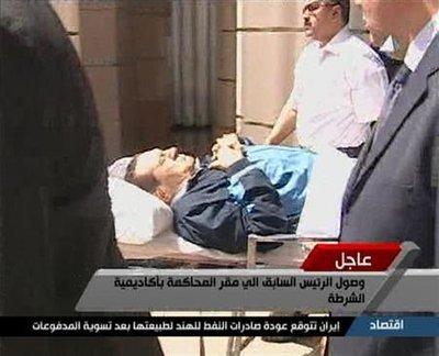 Reprise au Caire du procès de l'ex-président égyptien Hosni Moubarak