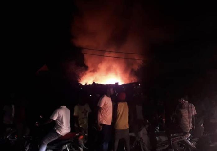 Urgent : Incendie au marché central de Tambacounda