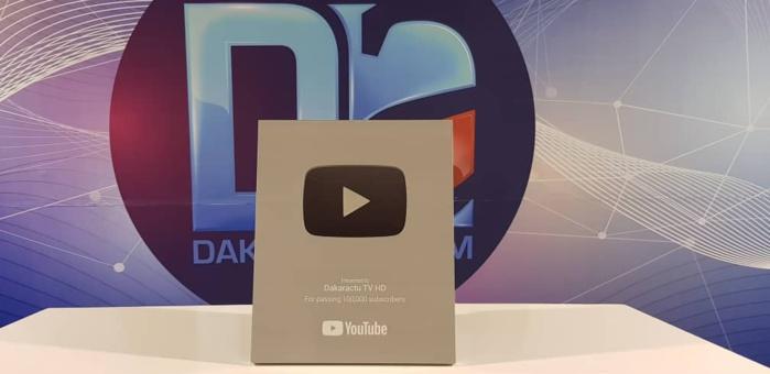 Distinction : Dakaractu TV HD récompensé du Trophée Argent de YouTube