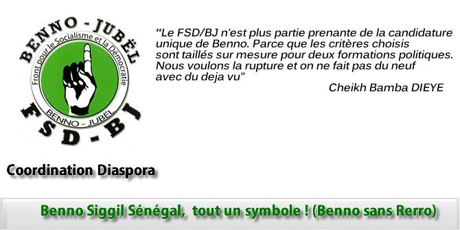 Benno Siggil Sénégal,  tout un symbole ! (Benno sans Rerro)