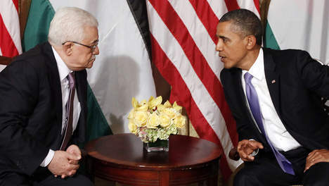 Rencontre entre Mahmoud Abbas et Obama